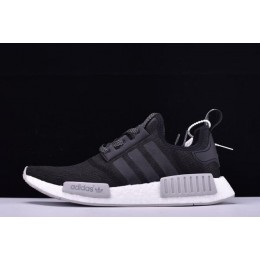 Men New Adidas NMD R1 Primeknit Black Reflective Black-Grey-White