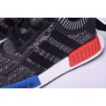 Men New Adidas NMD R1 Primeknit Friends and Family Grey-Red-White-Blue