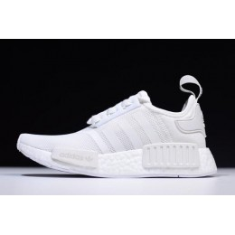 Men/Women New Adidas NMD R1 Primeknit White Black On Sale