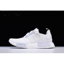 Men New Adidas NMD R1 Triple White Runner Shoes