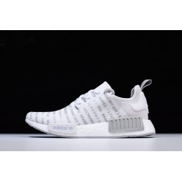 Men New Adidas NMD R1 Whiteout FTWR White-CH Solid Grey