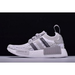 Men/Women New Adidas Originals NMD R1 Primeknit Grey Glitch Camo