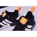 Men OFF-White x Adidas Originals NMD R1 Black-White-Orange