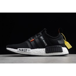 Men/Women Off-White x Adidas NMD XR1 PK BOOST Black White