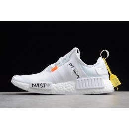 Men/Women Off-White x Adidas NMD XR1 PK BOOST White Black