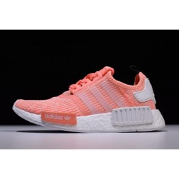 Women Adidas NMD R1 Pink White Shoes