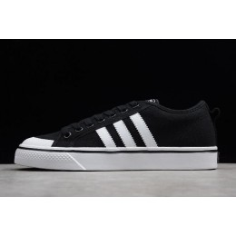Men/Women Adidas Nizza Blanc Bordeaux LO Black-White