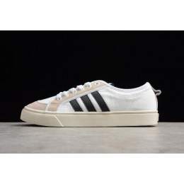 Men/Women Adidas Nizza Canvas White Black Grey Shoes
