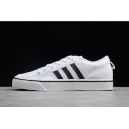 Men/Women New Adidas Originals Nizza Footwear White-Core Black