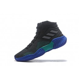 Men Adidas Pro Bounce 2018 Black-Light Solid Grey