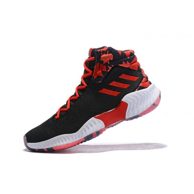 Men Adidas Pro Bounce 2018 Black-Red-White