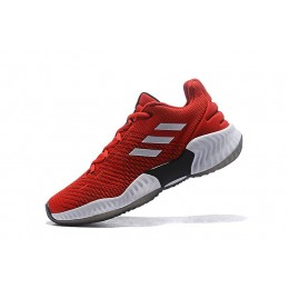 Men Adidas Pro Bounce Low 2018 University Red-White-Black