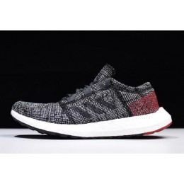 Men/Women Adidas Pure Boost GO Carbon-Black-Red-White
