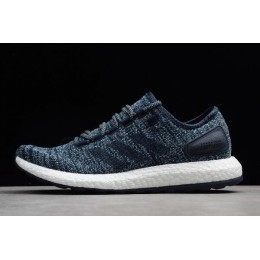 Men Adidas Pureboost All Terrain Trace Blue-White-Black