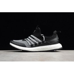 Men New Adidas Pure Boost Black Grey White Running Shoes