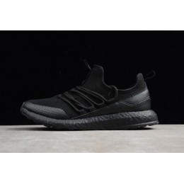 Men New Adidas Pure Boost Triple Black Running Shoes