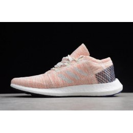 Women Adidas Pure Boost GO Pink-White-Blue Shoes