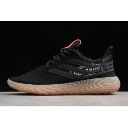 Men/Women Adidas Originals Sobakov Black Gum White Pink