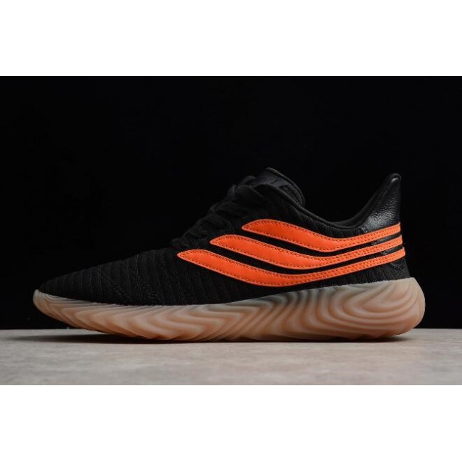 Men New Adidas Sobakov Black-Orange-Gum