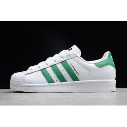 Men/Women Adidas Superstar NIGO Bearfoot White-Green