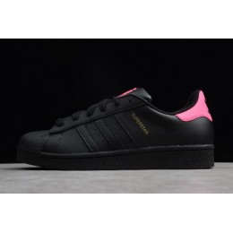 Women Adidas Superstar Black-Pink-Metallic Gold