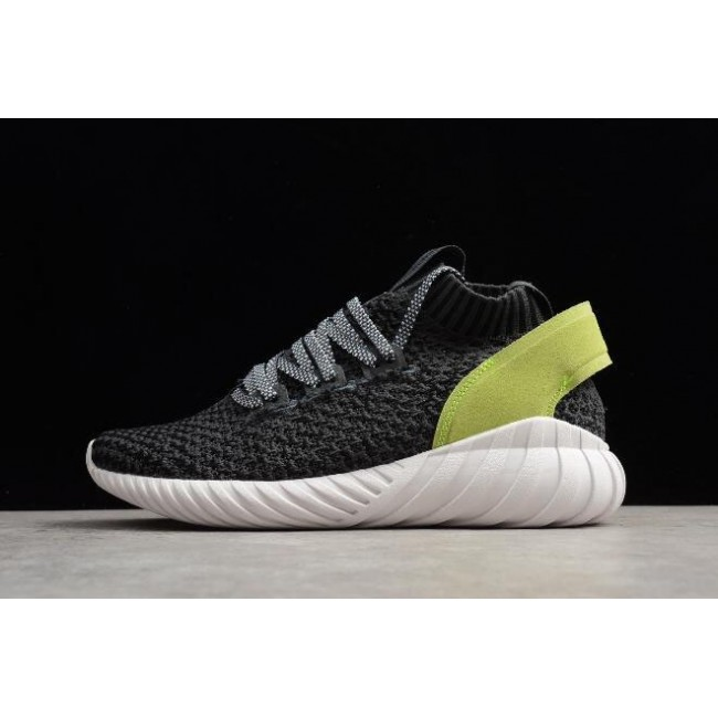 Women Adidas Tubular Doom Sock Primeknit Carbon-Black-Yellow