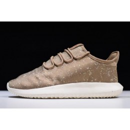 Men Adidas Tubular Shadow Jacquard Brown Size