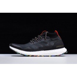 Men/Women 2018 Adidas Ultra Boost Mid Black-Multicolor-Black