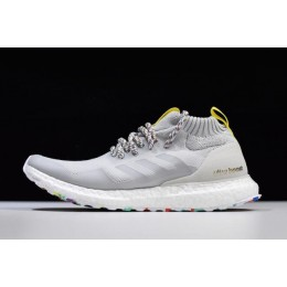 Men/Women 2018 Adidas Ultra Boost Mid White-Mutlticolor-White