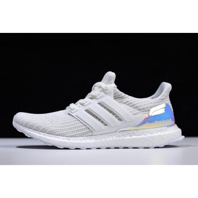 Men/Women Adidas Ultra Boost 4.0 Iridescent Triple White