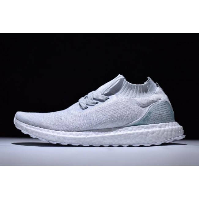 Men Parley x Adidas Ultra Boost Mid White-Light Blue
