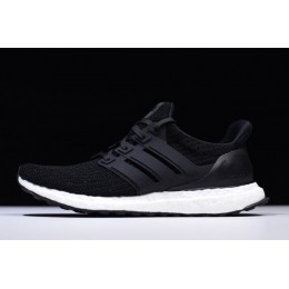 Men/Women New Adidas Ultra Boost 4.0 Core Black Black-White