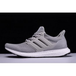 Men/Women New Adidas Ultra Boost 4.0 Grey Two