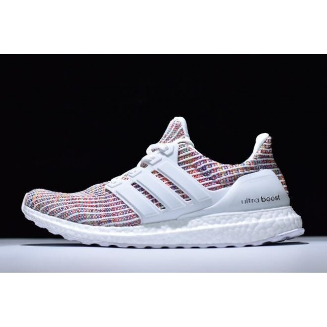Men New Adidas Ultra Boost 4.0 White-Multi-Color