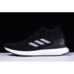 Men New Adidas Ultra Boost Mid Black-White Shoes On Sale