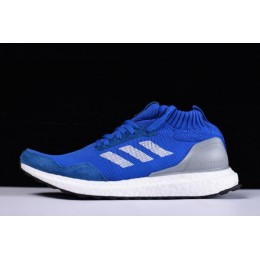 Men New Adidas Ultra Boost Mid Run Thru Time Blue-White