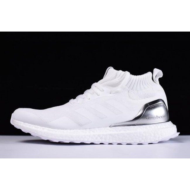 Men Ronnie Fieg KITH x Adidas Ultra Boost Mid White-Silver