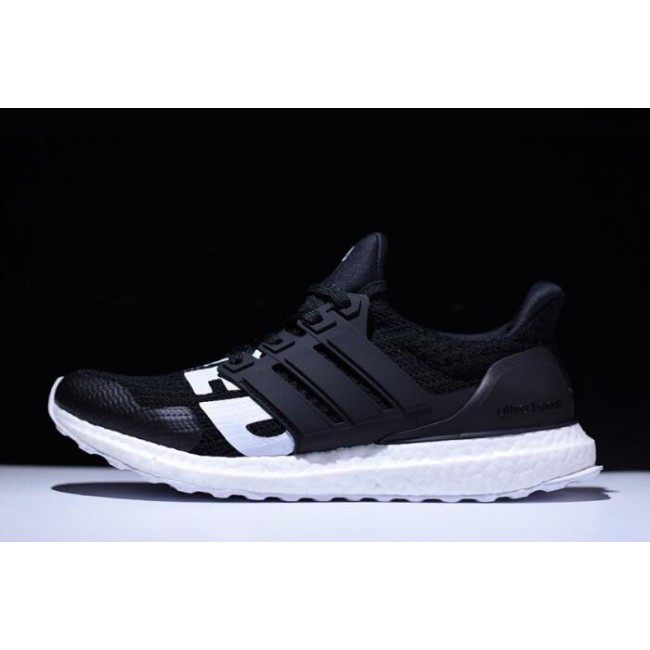 Men Undefeated x Adidas Ultra Boost Black-White On Sale