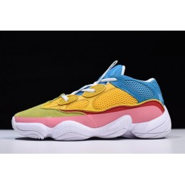 Men/Women Adidas Yeezy 500 Yellow-Sky Blue-Pink-White-Green