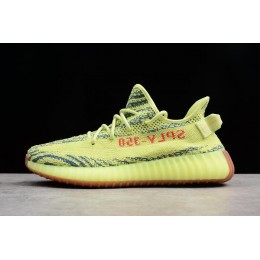 Men/Women 2018 Adidas Yeezy Boost 350 V2 Semi Frozen Yellow-Raw Steel-Red