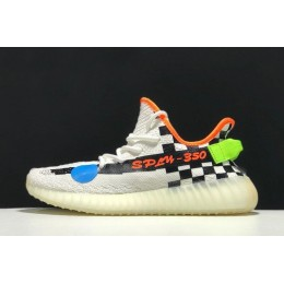 Men/Women 2018 Custom Off-White x Adidas Yeezy Boost 350 V2 Cream White