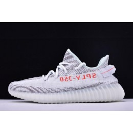 Men/Women Adidas Yeezy Boost 350 V2 Blue Tint Blue Tint-Grey Three-Hi-Res Red