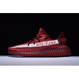 Men/Women Adidas Yeezy Boost 350 V2 Maroon Zebra Teach Red-White