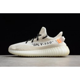Men/Women Off White x Adidas Yeezy Boost 350 V2 Cream Beige
