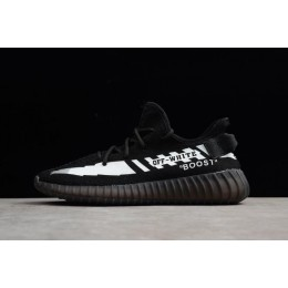 Men/Women Off-White x Adidas Yeezy Boost 350 V2 Black-White Size