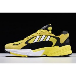 Men Adidas Yung-1 Mango Yellow-Black-White Size
