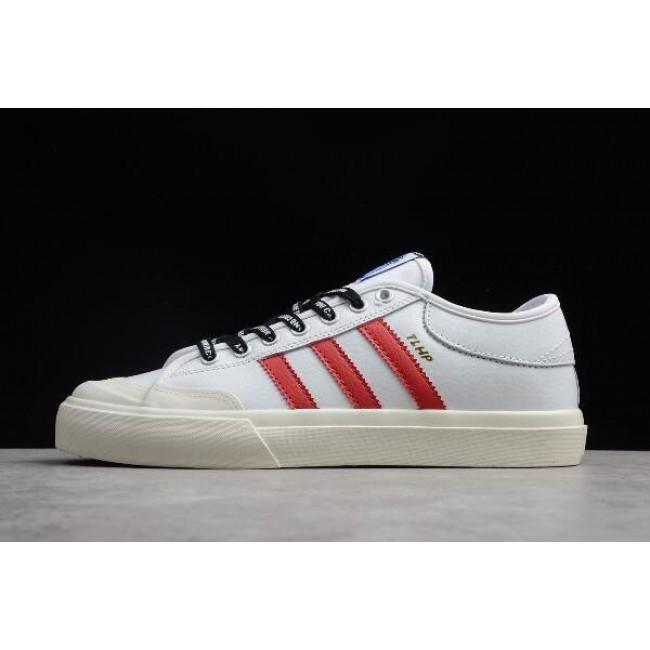 Men/Women Adidas Matchcourt Trap Lord Running White-Scarlet-Chalk White