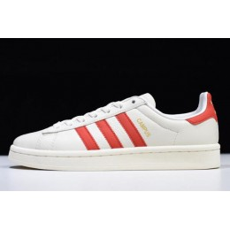 Men/Women Adidas Campus White-Red DB1450