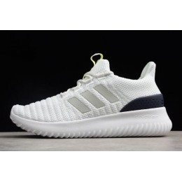 Men Adidas Cloudfoam Ultimate Pure White-Midnight Navy