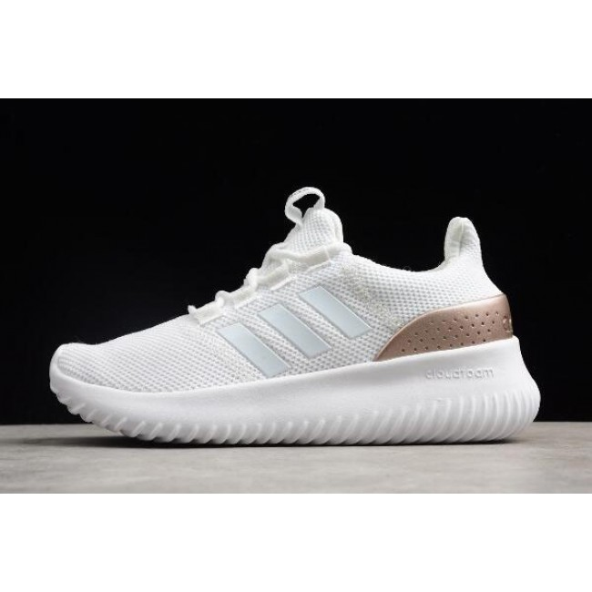 Men/Women Adidas Cloudfoam Ultimate Pure White Rose Gold
